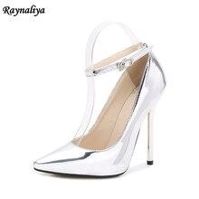 Spring Autumn Ankle Strap Pumps White Red Wedding Shoes Women Dress Shoes Ladies High Heels Pump Big Size 35-44 MS-B0047 цены онлайн