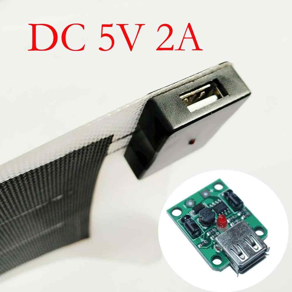 USB Solar Power Charger Regulator DC 6 V-20 V 18V Naar 5V 2A Max Voor Solar panel Buck Module Met Cover Schroeven Solar Power Charger