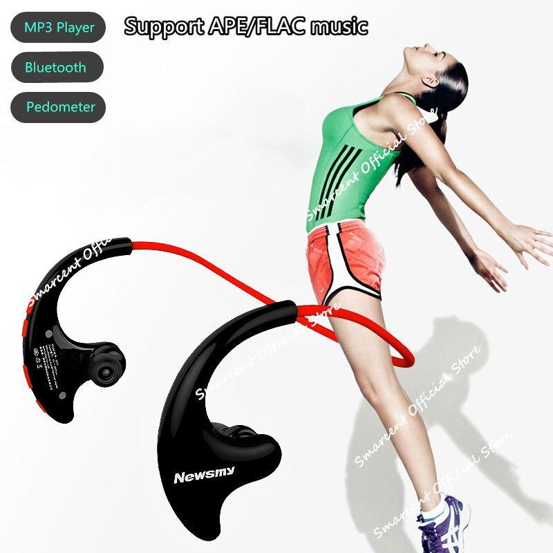 Hifi sport lecteur MP3 8 GB mémoire Bluetooth 4.2 lecteur MP3 avec Microphone podomètre upport APE FLAC musique pour IOS Android téléphone