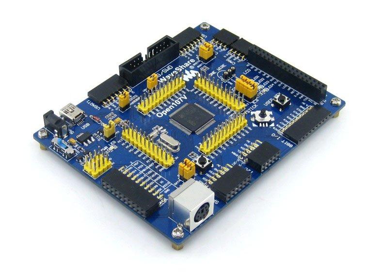STM32 Board STM32F107VCT6 STM32F107 ARM Cortex-M3 Board + PL2303 USB UART Module Kit # Open107V Standard stm32 board arm cortex m4 development board kit for stm32f407igt6 pl2303 usb uart module 3 2inch touch lcd open407i c pack a