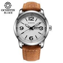 2016 Venta Nuevo Ochstin Hombres Reloj de Cuarzo Reloj Casual Fecha Día Hombres de Pulsera Relojes Hombre de Negocios Relojes Militares Hombre