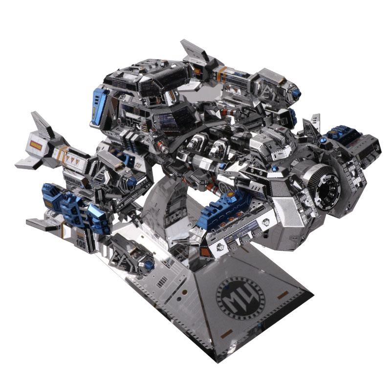 MMZ MODÈLE MU 3D Métal Puzzle Étoiles artisanat Terran Bataille Croisière YM-M015 DIY 3D Métal Puzzle Kits Laser Cut Modèle puzzle Jouets - 2