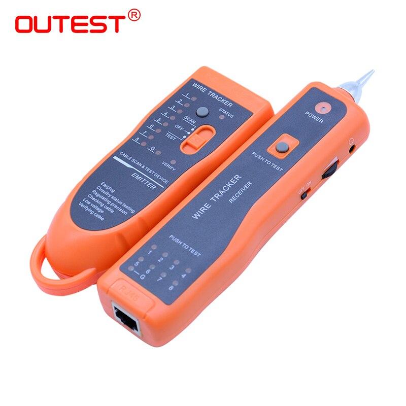 Envío libre del alambre RJ45 RJ11 buscador red lan cable de teléfono cable eléctrico tracker tracer toner xq-350