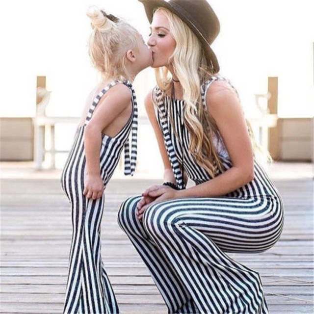 9ef57d74ce11 Lovely Kids Baby Girls Striped Bib Overalls Brace Pants Romper Baby Girl  Clothes Outfits 2018 New Bebes Summer Fashion Jumpsuit-in Rompers from  Mother ...