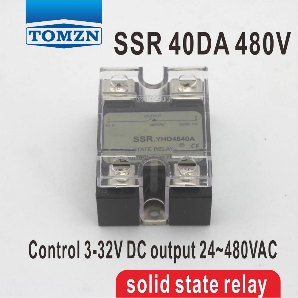 40DA SSR Control 3-32V DC output 24~480VAC High voltage single phase AC solid state relay 80da ssr control 3 32v dc output 24 480vac high voltage single phase ac solid state relay