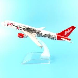 Image 2 - JASON TUTU 16cm Plane Model Airplane Model Air Asia Airbus 320 Aircraft Model 1:400 Diecast Metal Airplanes Plane Toy Gift