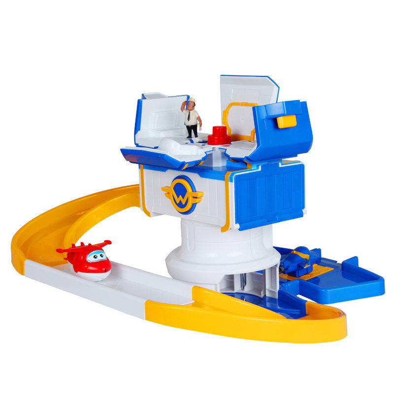 New Arrive ABS Super wings Control Centre with Planes Action Figures Transformation Toys children Christmas Gifts
