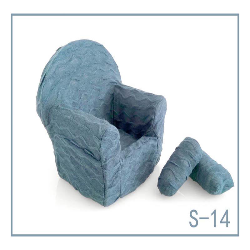 Реквизит для фотосъемки новорожденных, позирующий мини-диван, кресло на руку и 2 подушки, реквизит для фотосессии, студийные аксессуары для детей 0-3 месяцев - Цвет: 13