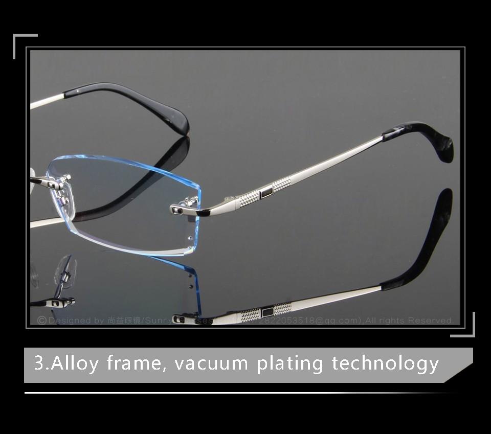 High Clear Glasses Frames For Men Eyeglasses Simple Luxury Business ...
