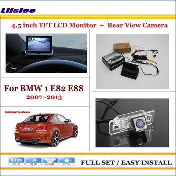 """For BMW 1 E82 E88 Car Reverse Rear Camera & 4.3"""" TFT LCD Monitor Screen 2 in 1 Parking System"""