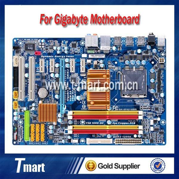 ФОТО 100% working Desktop motherboard for Gigabyte GA-EP43-UD3L System Board fully tested