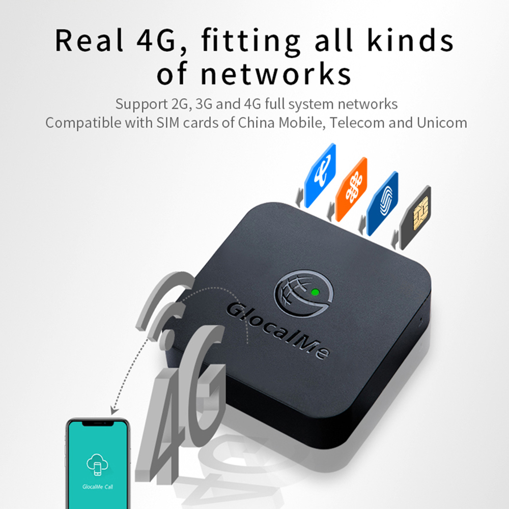 Multi 4 SIM Dual Standby No Roaming 4G SIMBOX for iOS & Android ,No Need Carry ,work with WiFi / Data to Make Call &SMS