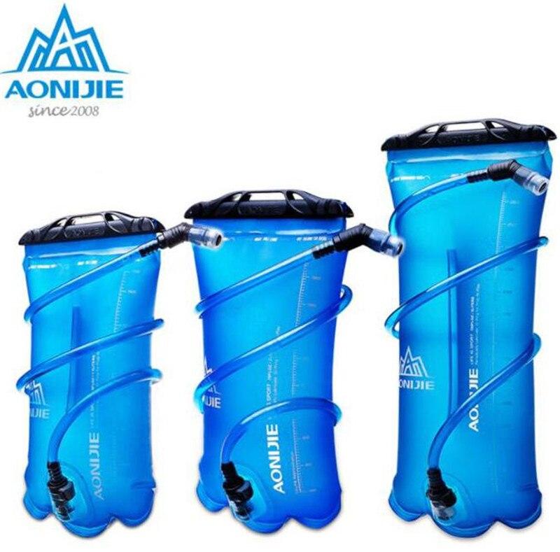 Aonijie saco de água ao ar livre para acampamento caminhadas escalada ciclismo corrida dobrável peva esporte hidratação bexiga 1.5l 2l 3l