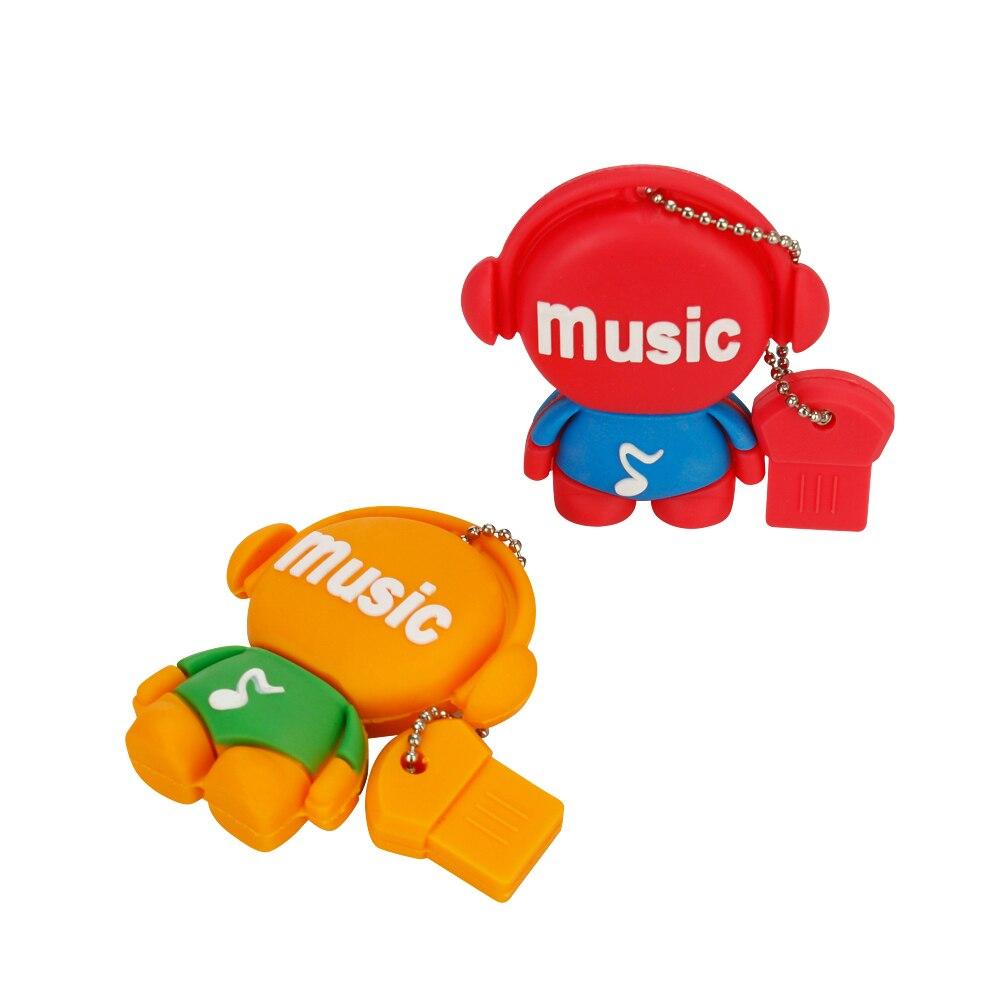 Usb Flash Drive 4G 8GB 16GB Music Robot Pen Drive 32GB 64GB Pendrive 128GB USB3.0 High Speed Usb Stick Thumbdrives Free Shipping (1)