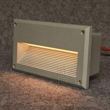 225×125 мм полу дома углу светильника встраиваемые лестница/шаг свет место алюминиевый черный/серый/белый led focos де писо украшения сада
