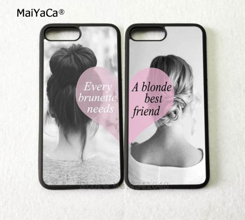 two girls bff best friends forever silicone soft phone cases for