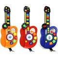 Guitarra de Brinquedo Mini DJ Stage Estilo Piscando Musical Órgão Eletrônico Guitarra de Brinquedo Crianças Brinquedo Instrumento Cor Aleatória K5BO
