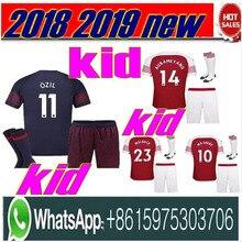 8fbfe23da 2018 2019 Arsenal home away 3rd kids kits+socks soccer jersey 18 19 ALEXIS  XHAKA GIROUD CHAMBERS OZIL football kids kit socks