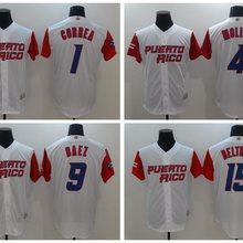 578ec83b76a Custom Puerto Rico Yadier Molina Carlos Correa Javier Baez 2017 World  Baseball Classic Shirt Jersey For Men