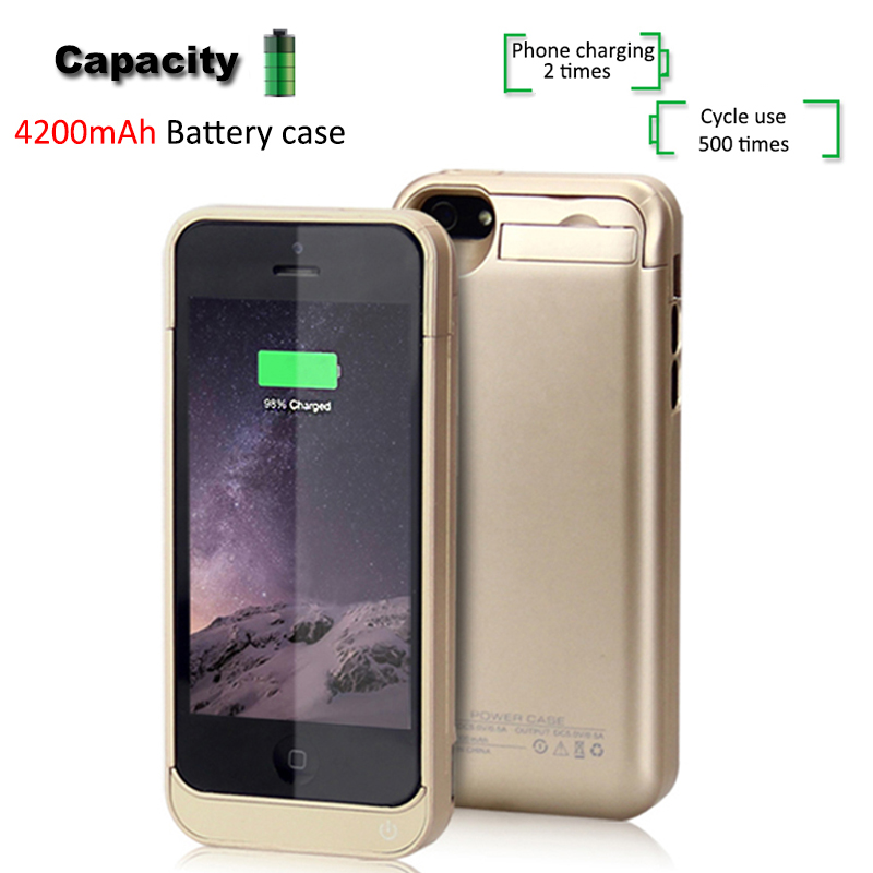 Back clip battery iphone5 rechargeable treasure Wireless 5S mobile power protection shell For iPhone5/ 5C /5S / SE Battery Case