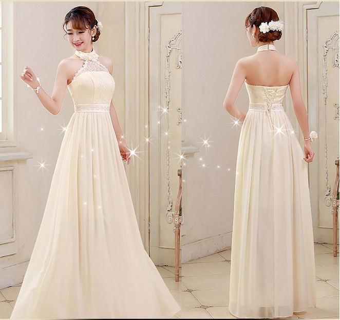 2e9849629b Doce 2015 New Arrival azul   bege longo vestidos de renda tipos de  casamento vestidos de festa com Zip voltar Custom Made ZY4516 em Vestidos  de Roupas das ...