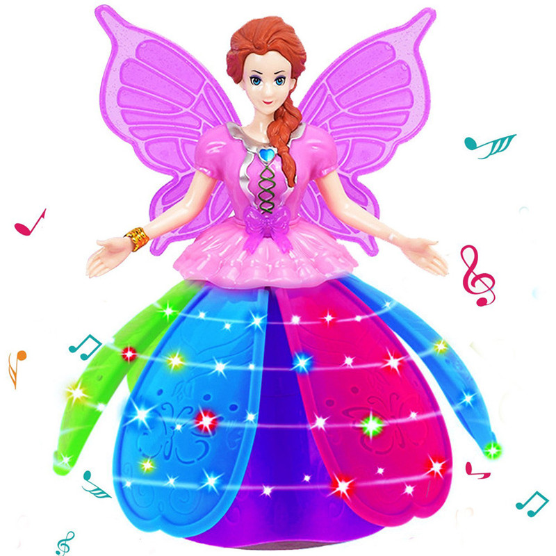 Kid Electric Toys Baby Musical Toys Girl Dancing Princess Multifunction Music Doll LED Pet Electronic Robot For Girls Dorp Ship
