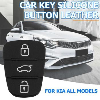 Replacement Silicone Rubber Button Pad for Hyundai Kia Flip Remote 3 Buttons Pad Key Shell Auto Car Key Fob Case Cover Decors image