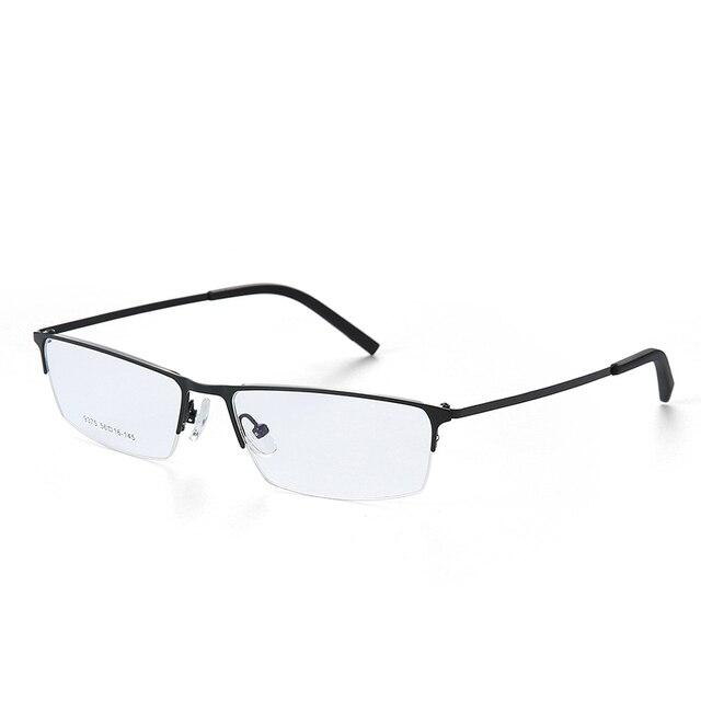 3c7ebce6d3 Titanium anteojos recetados hombres gafas de marco marcos de los vidrios  ópticos de diseño clásico para