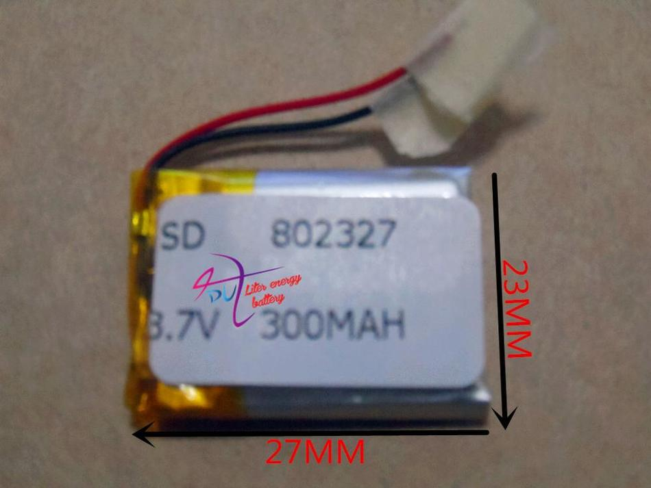 best battery brand 3 7V lithium polymer battery 802327 300mAh Bluetooth module with protection board electricity