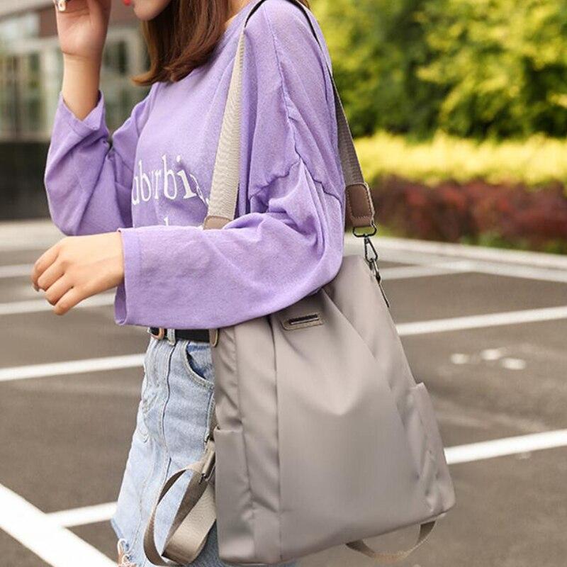 HTB115NhXozrK1RjSspmq6AOdFXa8 Fashion Laptop Backpack Nylon Charge Computer Backpack Anti-theft Waterproof Bag for Women Oxford cloth student bag Teenage