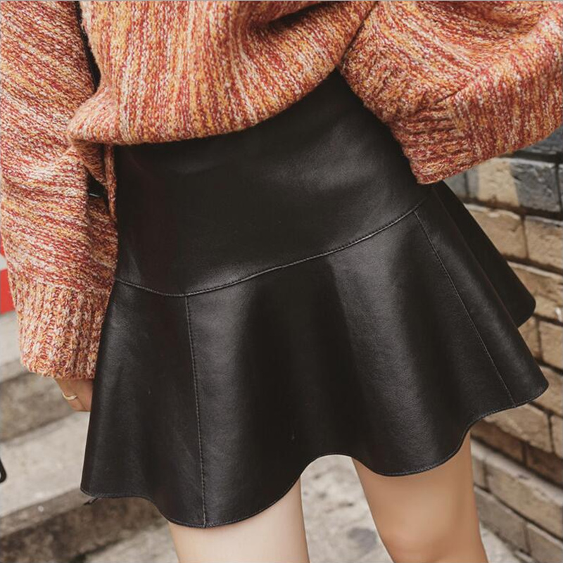 Black Leather Skirt Size 16 Promotion-Shop for Promotional Black ...