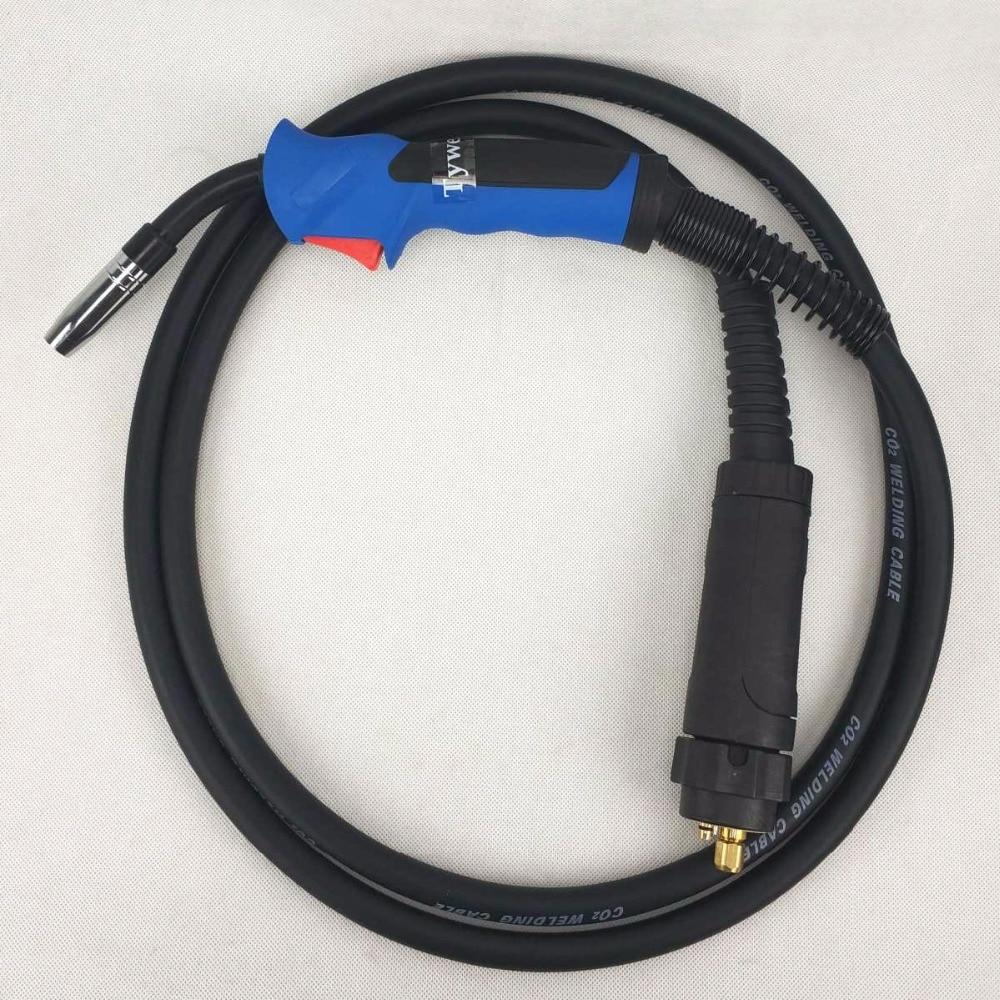 Air-gekühlt Euro Stecker Mb 15ak Schweißen Fackel 10ft Mb 15ak Mig/mag Schweißen Taschenlampe 180a Schweißen Fackel Mig Schweißen Gun 3 M