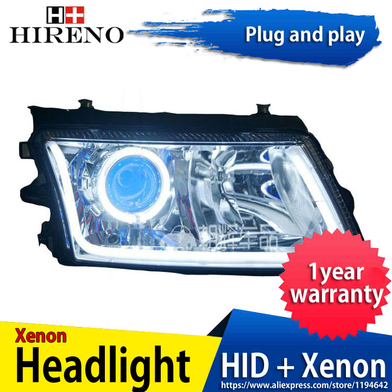 Car custom Modified Xenon Headlamp for Volkswagen Passat B5 2000-2006 Headlights Assembly Car styling Angel Lens HID 2pcs hireno headlamp for mercedes benz w163 ml320 ml280 ml350 ml430 headlight assembly led drl angel lens double beam hid xenon 2pcs