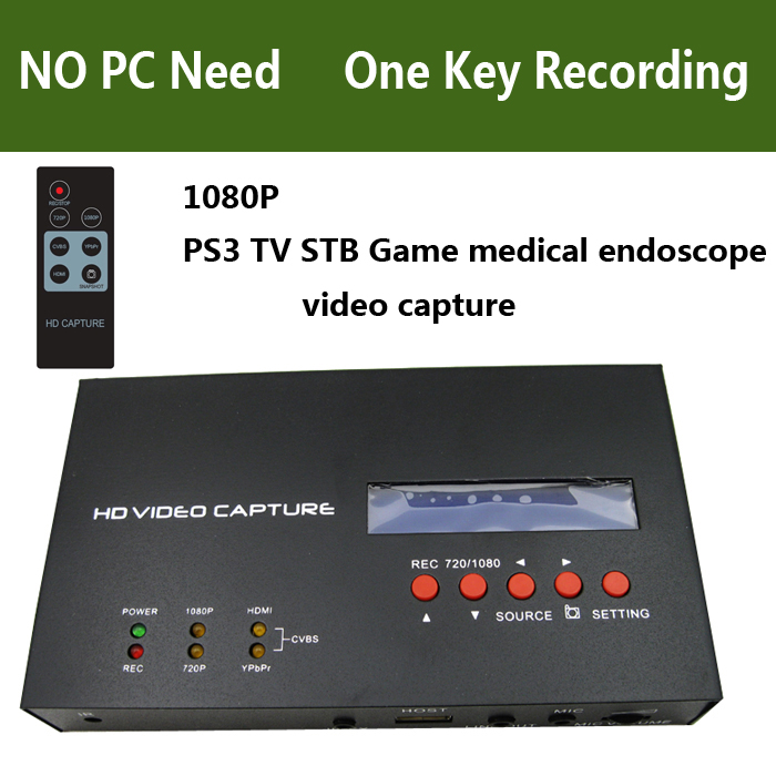 Original Ezcap 1080P Game Video Capture Box HDMI Ypbpr CVBS Recorder for PS3 PS4 TV STB Medical Endoscope OBS Live Streaming