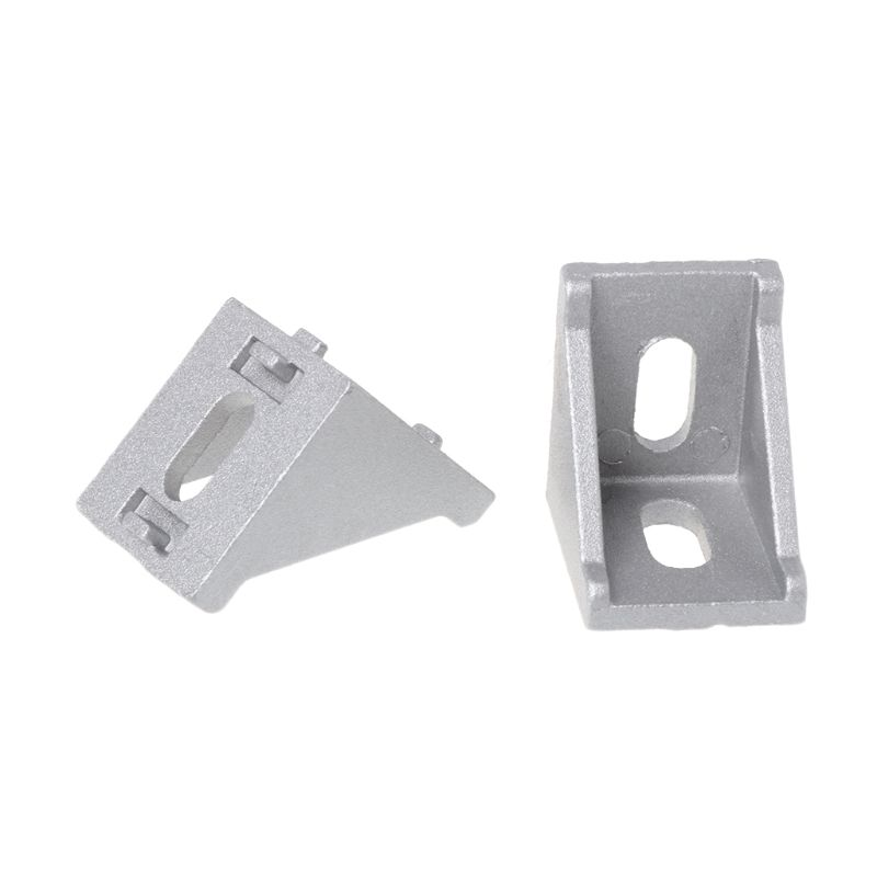 US $6 29 17% OFF|10pcs 3030 Fasten Fitting Angle 30x30 L Connector Aluminum  Corner Bracket Joint Brace-in Corner Brackets from Home Improvement on