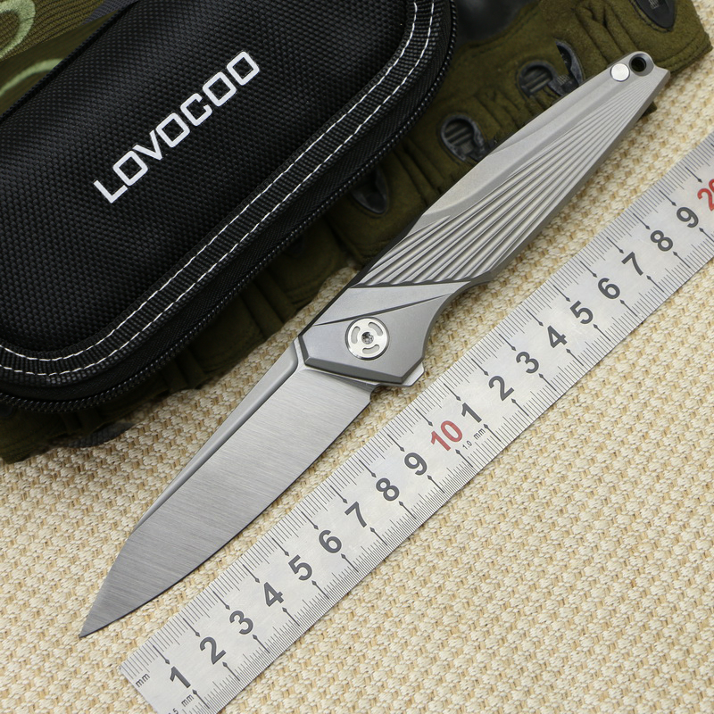 LOVOCOO Outdoor NSX Folding Knife Titanium Alloy Handle M390 Blade Ceramic Bearing Hunting Camping Tool Survival