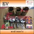 Набор для восстановления двигателя 3TNV70 Набор для восстановления поршня + кольцо + гильза цилиндра + прокладка + подшипник для Yanmar VIO17