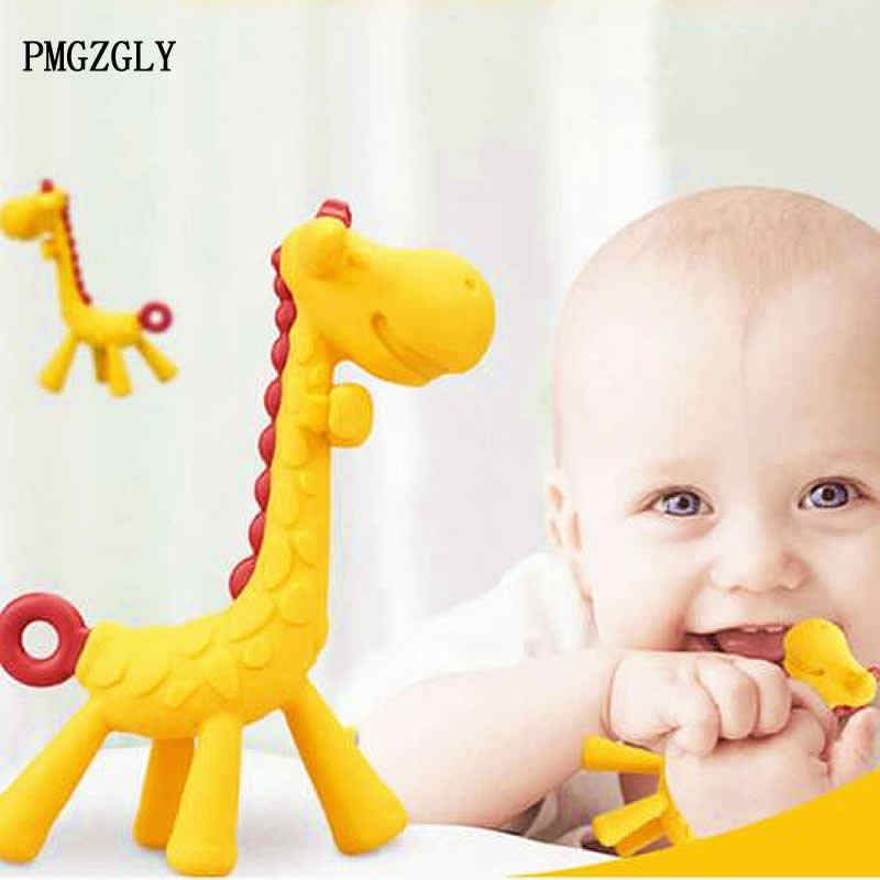 Baby teeth that fawn molar rod giraffe to bite the teether safty Baby Teether Pacifier Cartoon Teething Nursing Silicone
