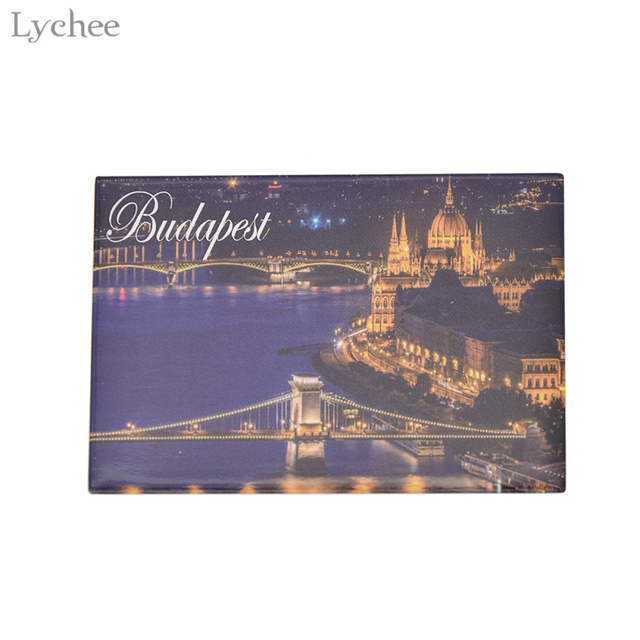 Lychee Life Budapest City Night Fridge Magnetic Fridge Magnets Tourist Souvenirs Magnetic Refrigerator Stickers Home Decoration 3