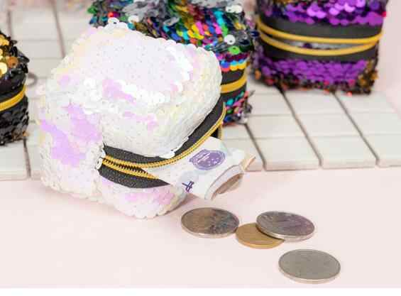 Etya Thời Trang Nữ Trẻ Em Kim Sa Lấp Lánh Tiền, Ví Nữ Dây Kéo Ly Hợp Đồng Tiền Tai Nghe Chụp Tai Gói Túi Ví Cầm Túi Túi