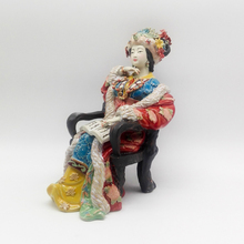 Glazed Ceramic Handmade Statue Pure manual Chinese Sculpture Wang Xifeng Character Art Crafts
