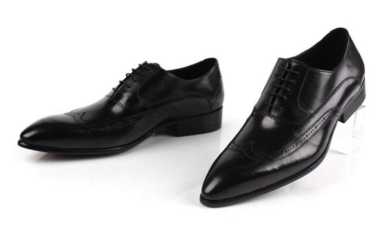 De Laços Couro Oxfords Trabalho Vestido Black red Dos Negócios 38 Escritório Casamento Tamanho Fino Vaca Bico Homens Mens Brown Alta 44 Qualidade Homem Sapatos PAzSzE