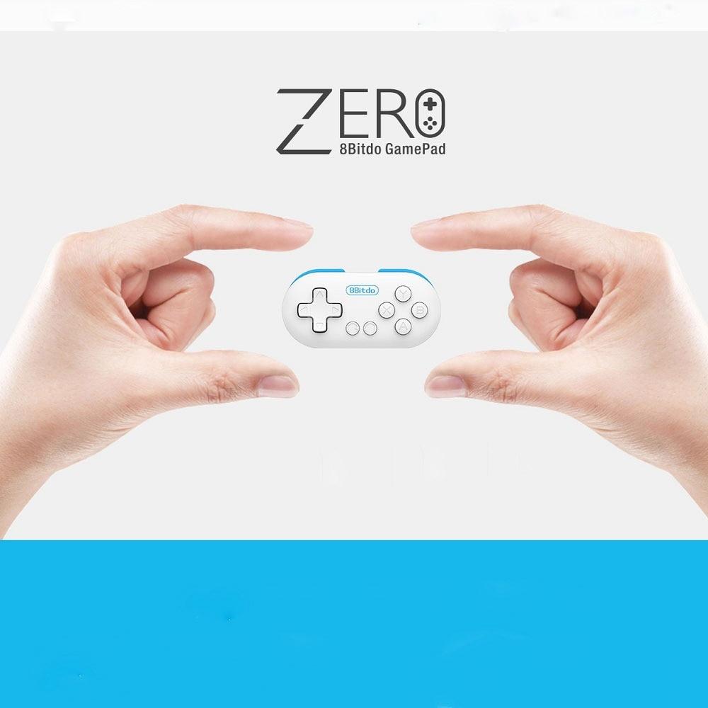 New 8Bitdo Zero Mini Wireless Bluetooth V2.1 Game Controller Gamepad Joystick Selfie Remote Shutter LED for Mac OS/iOS /Android