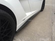 Car Styling For Lamborghini Gallardo LP550 LP560 LP570 Superleggera Style Carbon Fiber Side Skirt Underboard 2pcs