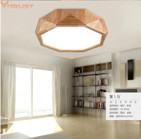 Vitrust Modern Wood Ceiling Lamps Nordic Home Lighting Fixture Japanese Lamp Round Living Room Bedroom Study Balcony Chandelier