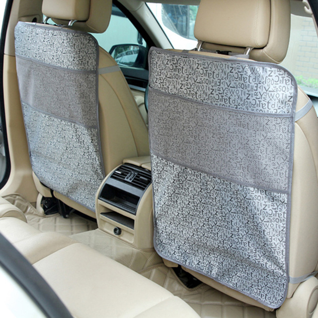 LUNDA Kick Mats Back Seat Protectors Storage Organizer Pocket /Best For Protection From Kid's Dirt ,Waterproof Car Seat Covers