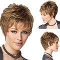Мода Sexy Синтетический Пушистый Слегка Вьющиеся Волнистые Женщины Парики Короткие Волосы Парик Девушки Подарок Белье