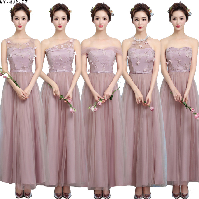 Zx A48z One Shoulder Bridesmaid Dresses New Spring Summer 2017 Cameo Brown