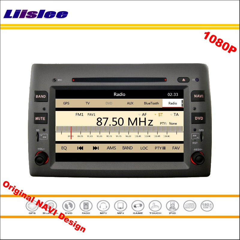 For Fiat Stilo 2002 2010 Car Stereo Radio CD DVD Player GPS Navigation 1080P HD Screen