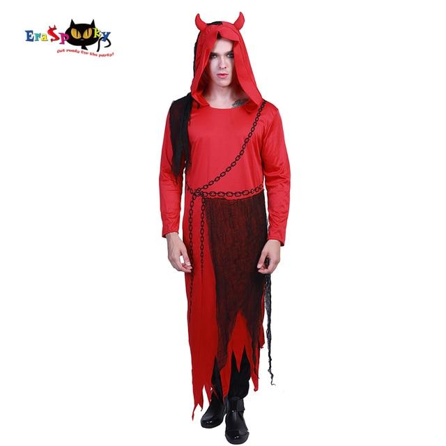 Eraspooky New Scary Costume Halloween Adulte Homme Long Robe Hood